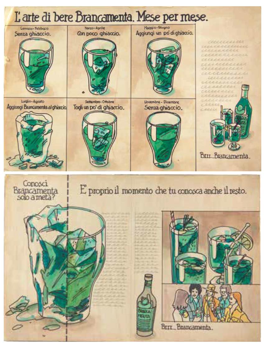 Bozzetti della campagna stampa del 1975